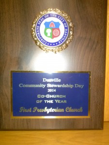 FPC Danville Co-Church Stewardship award